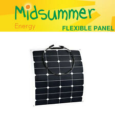 50W 12V Flexible Solar Panel with marine-grade self-adhesive - boats, yachts