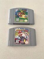 Super Mario 64 & Kart COMBO (Nintendo 64, 1996) AUTHENTICS! Cleaned & Working!
