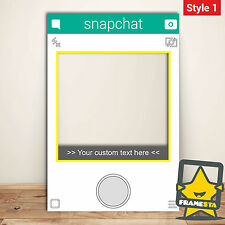 Snapchat Frame Props For Photo Booth (60 x 90 cm) Instagram Facebook