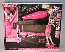 MONSTER HIGH JEWELRY BOX COFFIN BED DEAD TIRED DRACULAURA DOLL MATTEL NEW