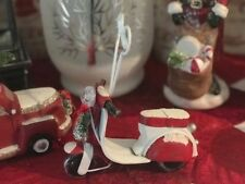 Vintage Style Christmas Scooter LED Picture, Clip, Place card, Photo Holder New!