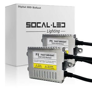 SOCAL-LED 2x Digital HID Ballast Replacement 55W AC Slim Design for Fiat Jaguar