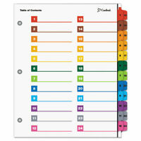 OneStep Printable Table of Contents/Dividers, 24-Tab, 8-1/2 x 11, Multicolored