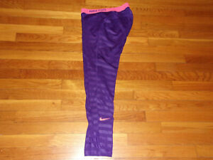 NIKE PRO DRI-FIT PURPLE RUNNING TIGHTS WOMENS LARGE NICE CONDITION