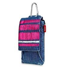 Handtasche Gürtel 140mm x 78mm Tragegurt! Ausweistasche mit Reisverschluss Jeans