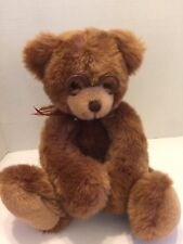 "Gund Teddy Bear ""Booker"" Plush Cuddly Softest 14""T With Glasses Festive Bow"