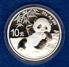 2020 30g Chinese Silver Panda Coin - Gem Bu