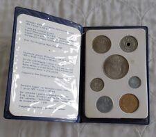 DENMARK 1970 7 COIN UNCIRCULATED MINT SET - blue wallet