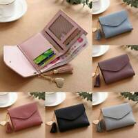 Women Short Small Coin Purse Wallet Ladies Leather Folding Card ID Card Holder