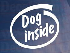 Chien à l'intérieur funny novelty VOITURE / FOURGONNETTE / fenêtre / AUTOCOLLANT-idéal pour les propriétaires de chien