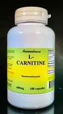 L-Carnitine 600mg + Coq-10, energy aid, anit-aging - 100 capsules, Made in USA.