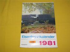 ORIGINAL transpress Eisenbahnkalender Wandkalender 1981 Kalender 29x41 cm DDR