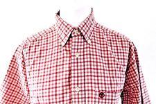 "Timberland Short Sleeve Red Check 100% Cotton Shirt -  M - ptp 24"""