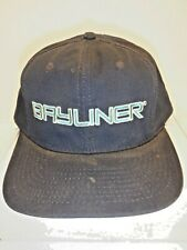 Vintage BAYLINER Blue Cap Hat Embroidered Adjustable Snap Back