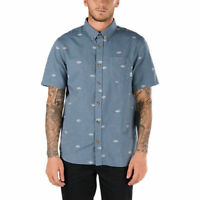Vans Off The Wall Men's Dress Blue Houser S/S Woven Shirt (Retail $44.50)