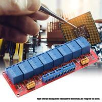 5V/12V/24V 8 Channel Optocoupler High & Low Trigger Relay Module Board