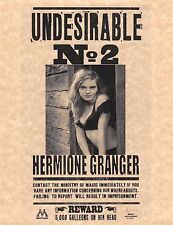 Harry Potter Undesirable Number 2 Hermione Granger Flyer/Poster > Emma Watson