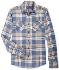 American Rag Men's Plaid Flannel Shirt, Dusty Seas, Size L, MSRP $40