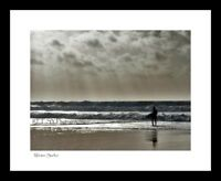 """Gower Peninsula Collection - """"Winter Surfer"""" 8""""x6"""" framed high quality print"""