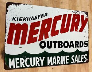 """Mercury Marine  Aluminum Tin Sign 12""""x18"""""""