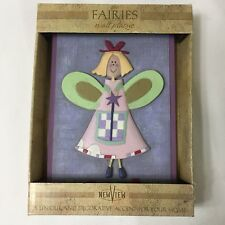 NEW VIEW~The Fairies-Wall Plaque, Adorable!,New In Package, Whimsical 4 1/2 x 7""