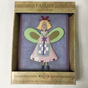 """NEW VIEW~The Fairies-Wall Plaque, Adorable!,New In Package, Whimsical 4 1/2 x 7"""""""