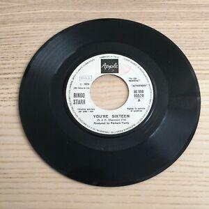 "Ringo Starr_You're Sixteen / Devil Woman_Vinile 45giri 7"" _ Apple 1974 Juke Box"
