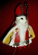 R. John Wright Father Christmas Mouse St. Nicholas  USA Handmade #100 of 250