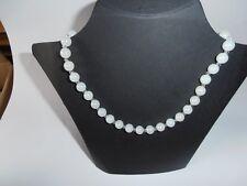 Halskette Collier 10 mm irisierend Glas Perlen unterbrochen mit Kristalle  Nr. 1
