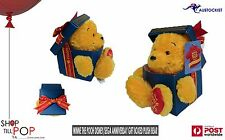 "Disney Winnie The Pooh Plush in a box 80th Anniversary LTD Edition BNIB 5"" Rare"