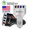 4-Port USB Car Charger Adapter QC 3.0 Fast Charging For iPhone XS Samsung LG HT