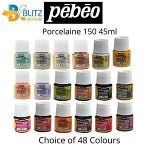 Pebeo PORCELAINE 150 Permanent Porcelain Ceramic China Paints - 45ml