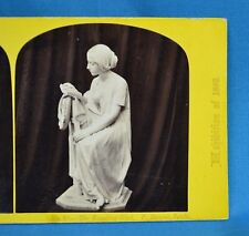1862 Stereoview Photo The International Exhibition No68 The Reading Girl P Magni