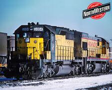 Chicago & North Western SD40-2 Logo Photo Sign