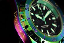 23742 NEW Invicta 52mm Pro Diver Ocean Master Iridescent Case Black Strap Watch