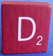 Single Maroon Scrabble Wood Letter D Tile One Only Replacement Game Parts Pieces