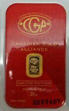 Canadian Gold Alliance 20 grains Fine Gold .999 V257