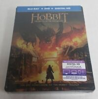 The Hobbit Battle of the Five Armies Blu-Ray DVD Collectible Steelbook NEW