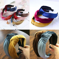 Fashion Knot Solid Color Velvet Hairband Headband Women Hair Accessories Party