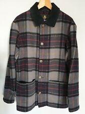 Barbour Mens Tartan Wool Galloway Coat Jacket Size Large