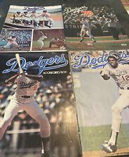 1974-1978 LOS ANGELES DODGERS LOT OF 4 UNMARKED PROGRAMS/SCORECARDS VS. BRAVES++