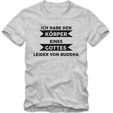 Buddha Kurzarm Herren-T-Shirts aus Baumwolle