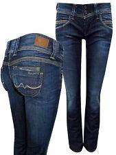 Pepe Jeans DARK-DENIM Venus Low Rise Regular Fit Straight Leg Denim Jeans
