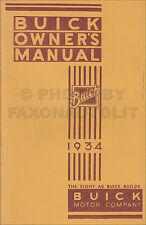 1934 Buick Owners Manual Book Instruction User Guide Book 40 50 60 90