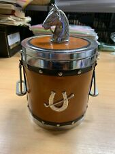 "VINTAGE RETRO HORSE ICE BUCKET WITH STIRRUPS FOR HANDLES 9""-TALL (P5)"