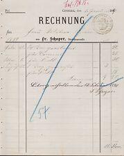 Gronau, 2x factura 1890, steinhauer-maestro Fr. schaper