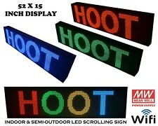 52X15 Inch WIFI USB LED Programmable Scrolling Sign For INDOOR Semi Outdoor USE