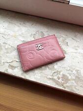 Chanel Kartenetui card holder pink rosa Kamelien authentisch