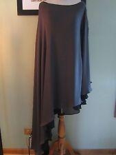 New Alexia Admor Charcoal Black One Shoulder Asymmetrical Dress Size M