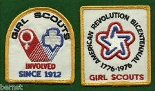 VINTAGE GIRL SCOUT PATCHES - PAIR OF NATIONAL BICENTENNIAL OFFICIAL PATCHES